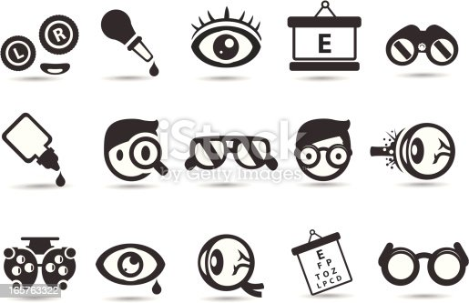A set of royalty free medical icons.