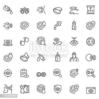 Optometry icon set
