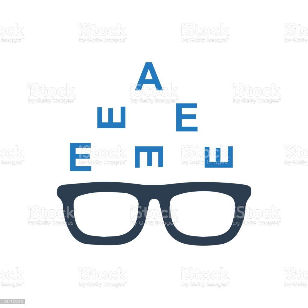 Optometry 아이콘 - 로열티 프리 건강관리와 의술 벡터 아트