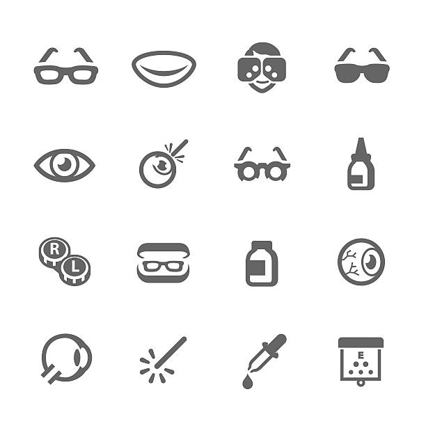 Optometry iconos - ilustración de arte vectorial