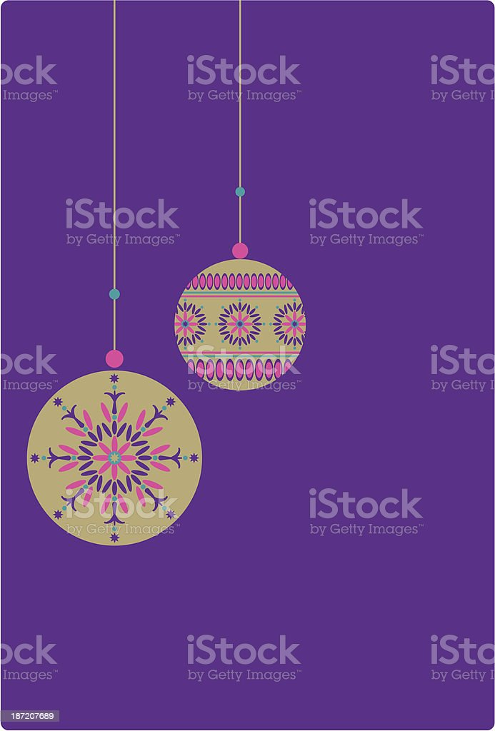 Opulent Gold Hanging Christmas Baubles royalty-free stock vector art