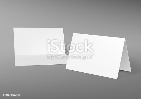 A5 Or A4 Half-fold Horizontal Blank White Brochure