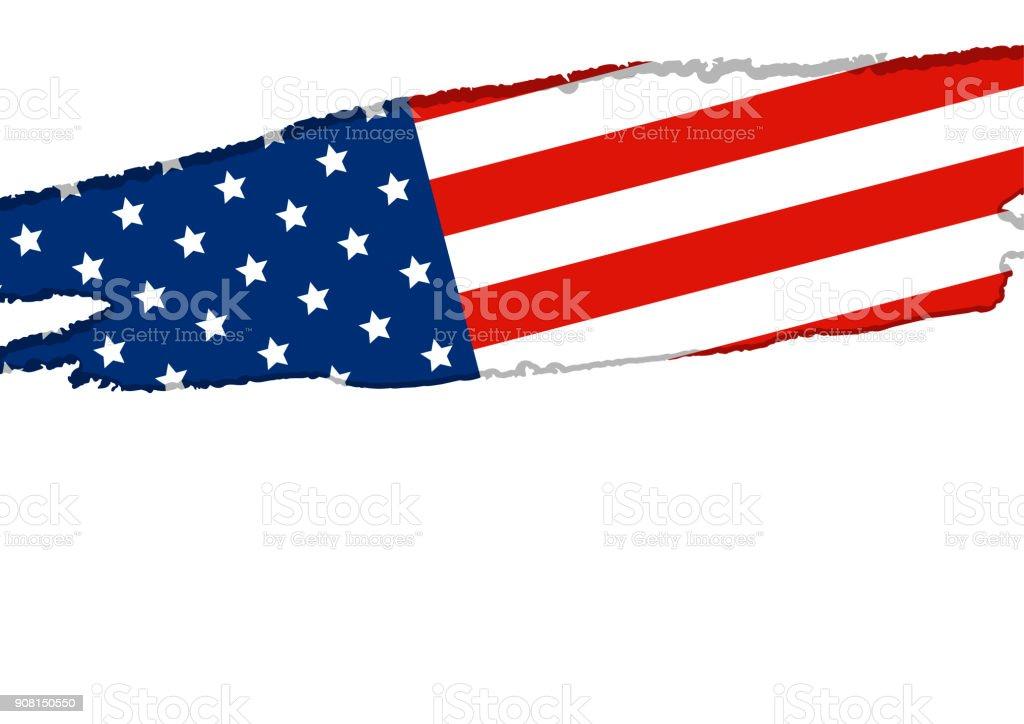 Ilustración de Bandera De Estados Unidos O América Aislada En ...