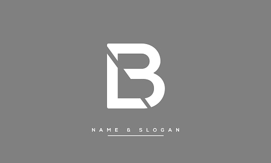 LB or BL Alphabet Letters Icon Abstract logo