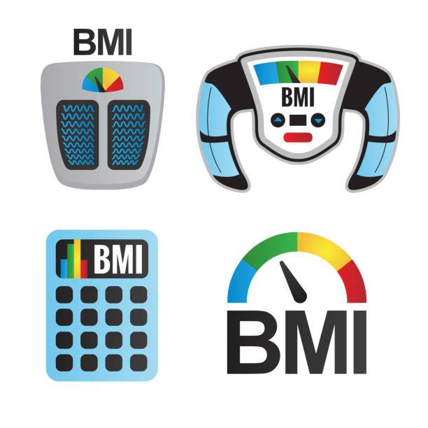BMI oder Body-Mass-Index-Symbole – Vektorgrafik
