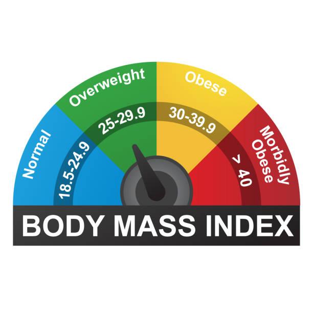 BMI oder Body-Mass-Index-Infografik-Diagramm – Vektorgrafik