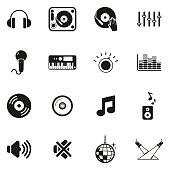 DJ or DJ Equipment Icons