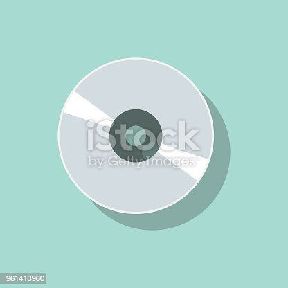CD or DVD disk vector illustration