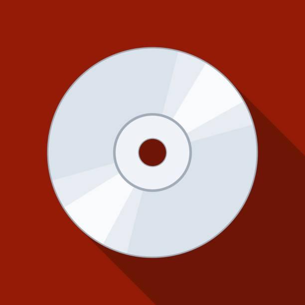 ilustrações, clipart, desenhos animados e ícones de ícone cd ou dvd no backgound com sombra. disco compacto digital disco óptico de armazenamento de dados. ilustração vetorial - cd