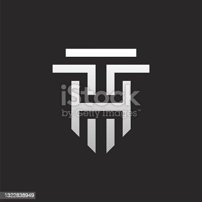 istock TH or HT Letter Logo Design 1322838949