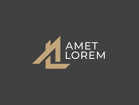 AL or LA. Monogram of Two letters A&L or L&A. Luxury, simple, minimal and elegant AL, LA logotype design. Vector illustration template.