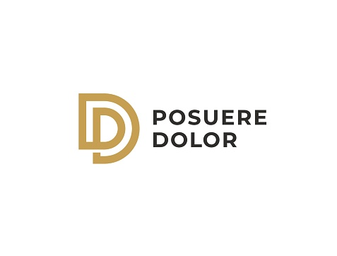 DP or PD. Monogram of Two letters D&P or P&D. Luxury, simple, minimal and elegant DP, PD logotype design. Vector illustration template.