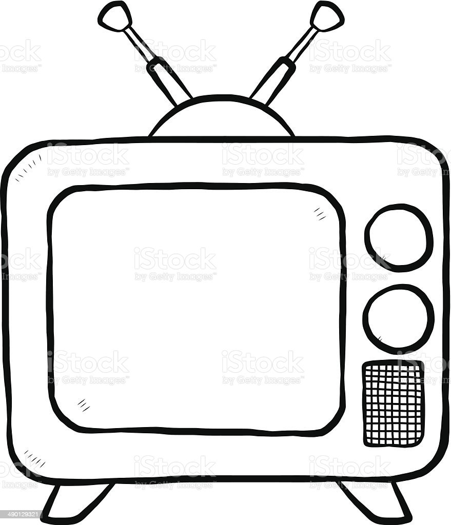 Tv Or Television Stock Vector Art More Images Of Analog 490129321