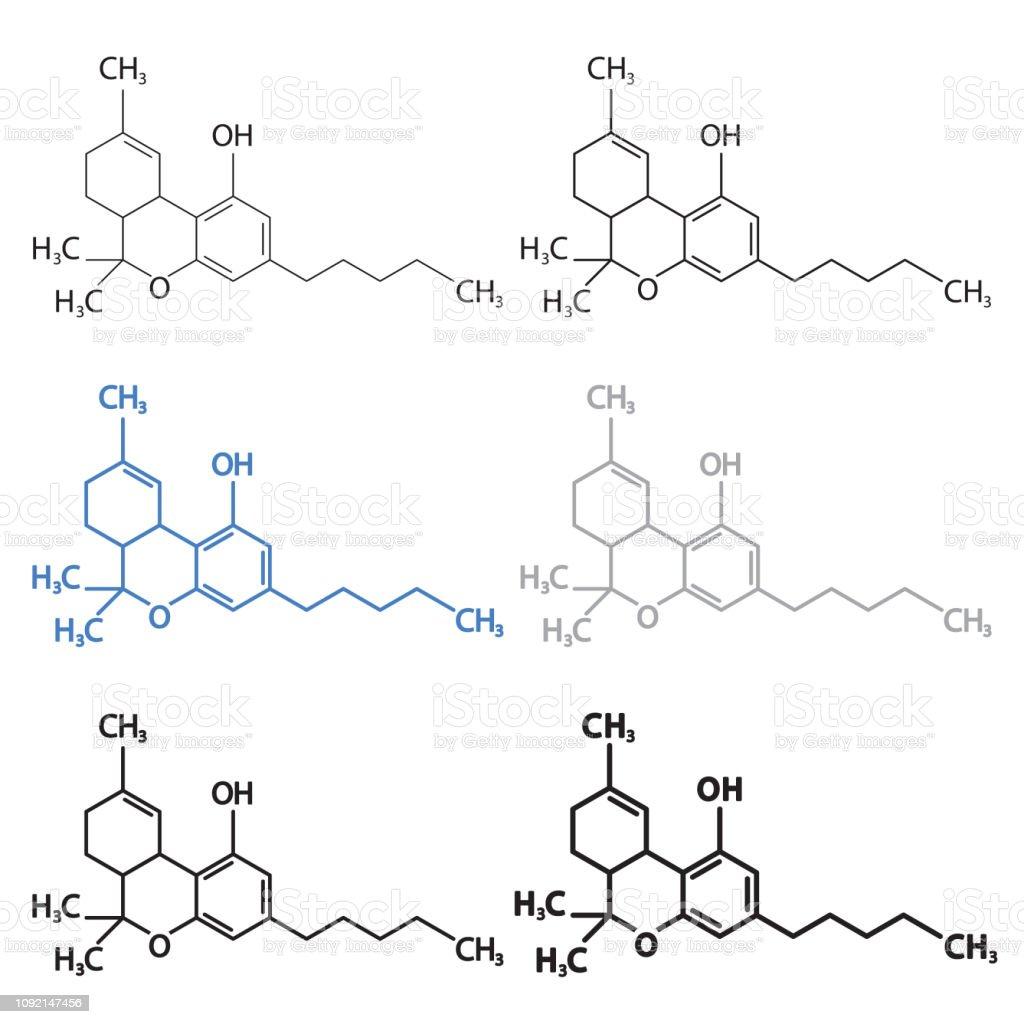 Thc Oder Tetrahydrocannabinol Molekulare Strukturelle