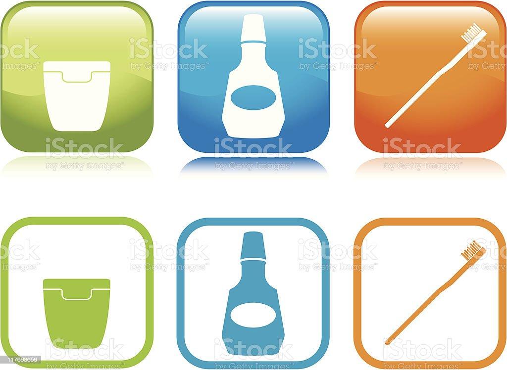 Mundhygiene Symbole Stock Vektor Art und mehr Bilder von Blau ...