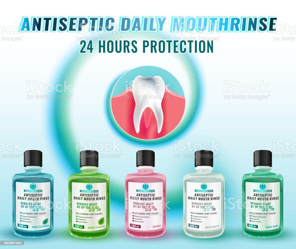 Oral Rinse Image vector art illustration