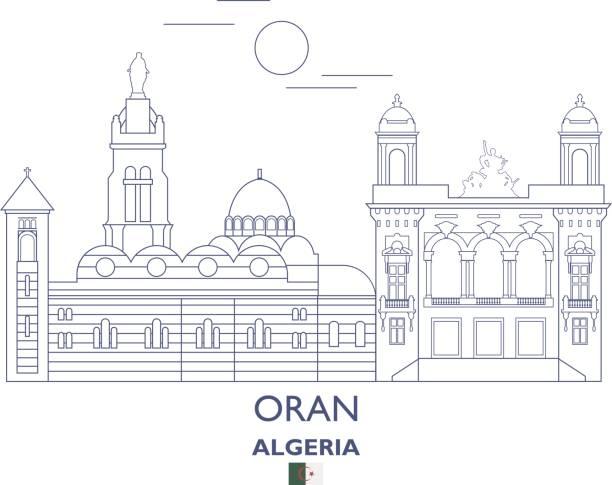 奧蘭市的天際線,阿爾及利亞 - 阿爾及利亞 幅插畫檔、美工圖案、卡通及圖標