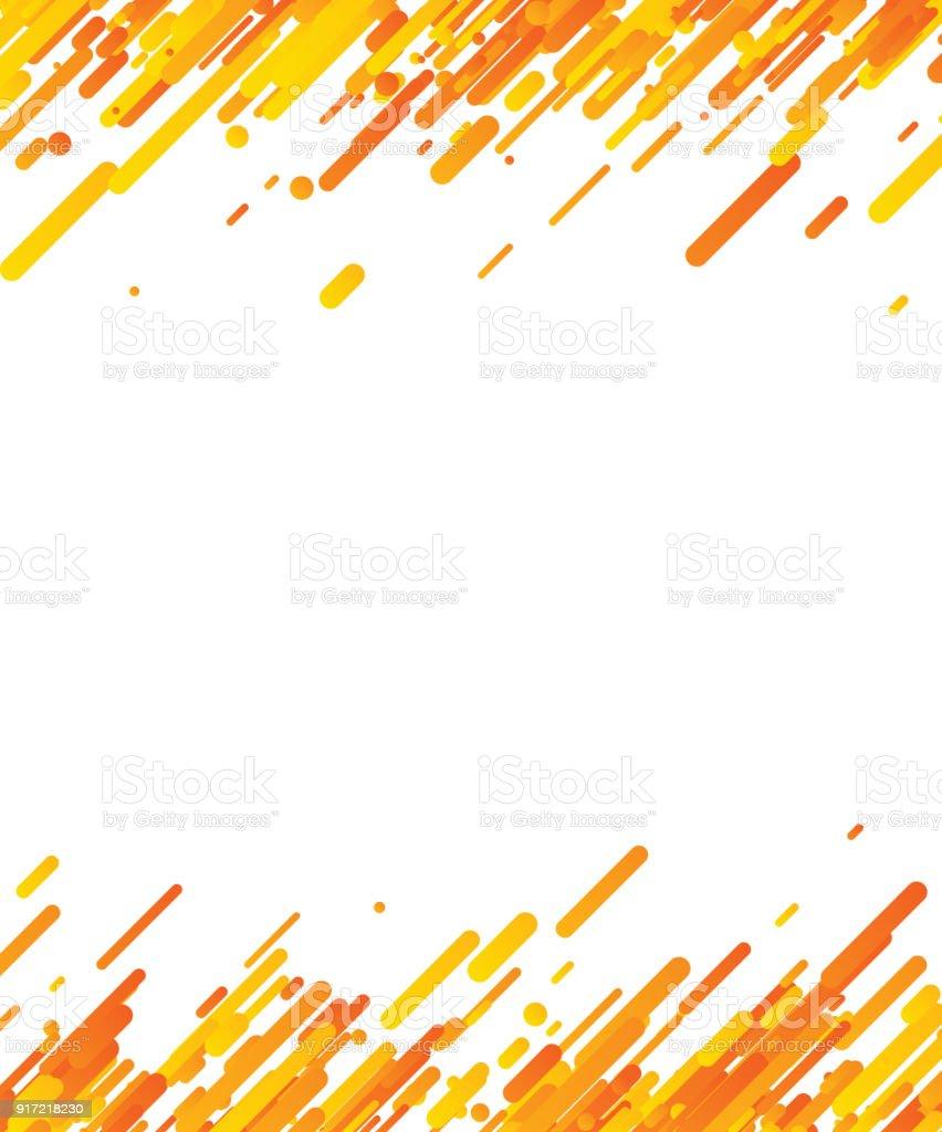 Orange Abstract Background On White Stock Illustration