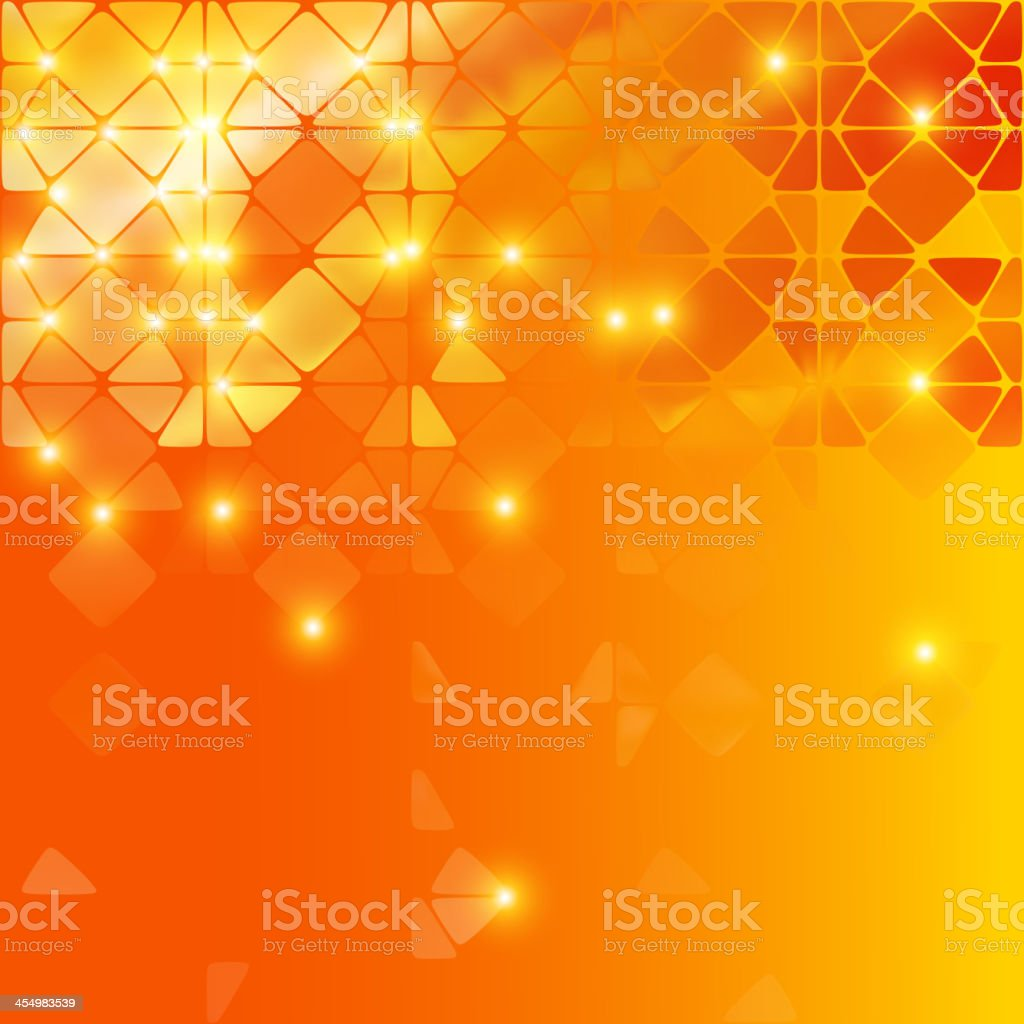 Orange abstract background with different patterns royalty-free stock vector art