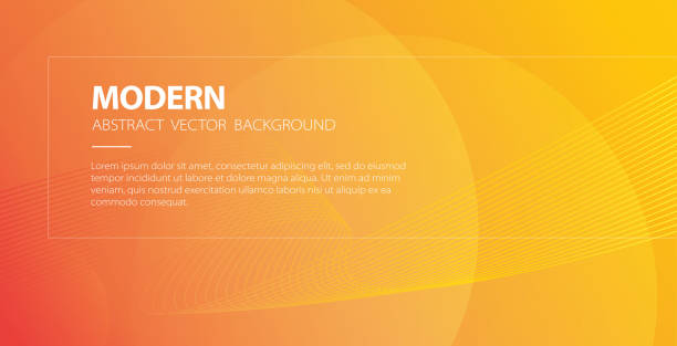 Orange abstract modern background with wavy lines vector banner, elegant wave backdrop poster or flyer with light and technology stripes, curve energy fluid gradient template design image Orange abstract modern background with wavy lines vector banner, elegant wave backdrop poster or flyer with light and technology stripes, curve energy fluid gradient template design business backgrounds stock illustrations
