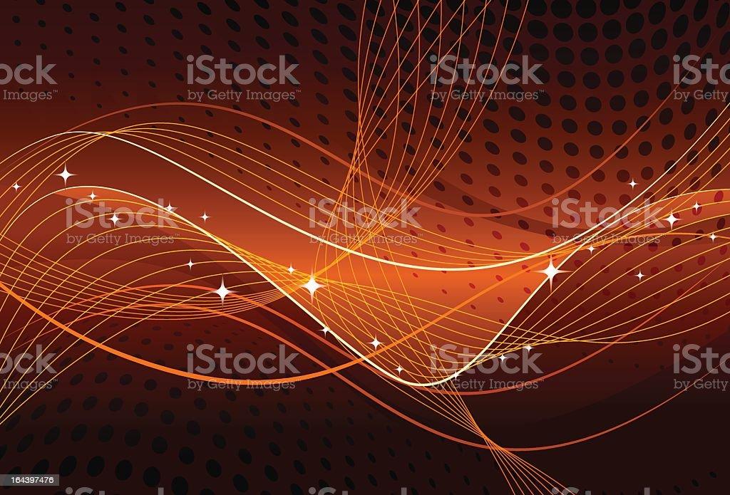 Orange abstract royalty-free stock vector art