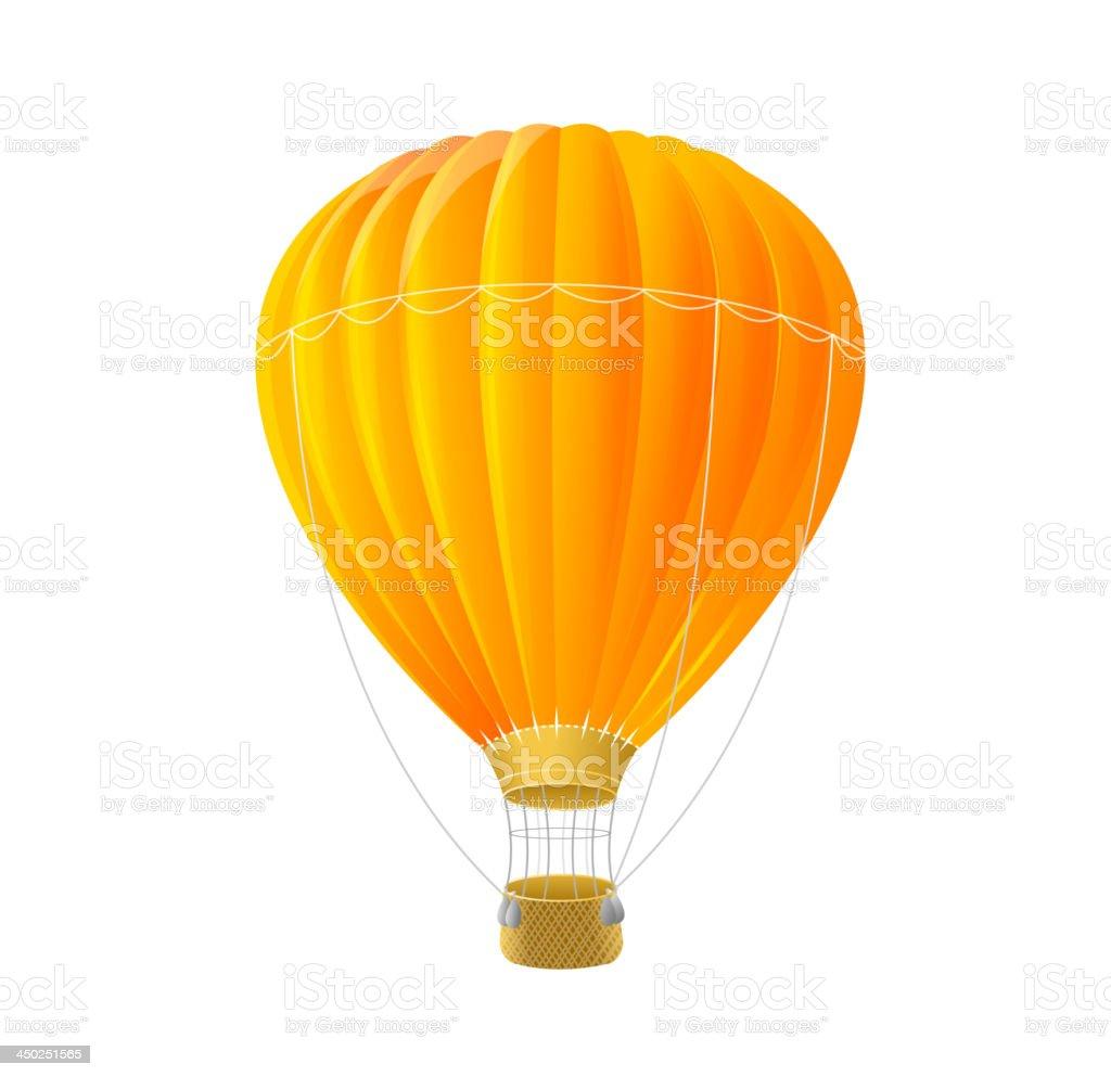 Orange air ballon royalty-free stock vector art