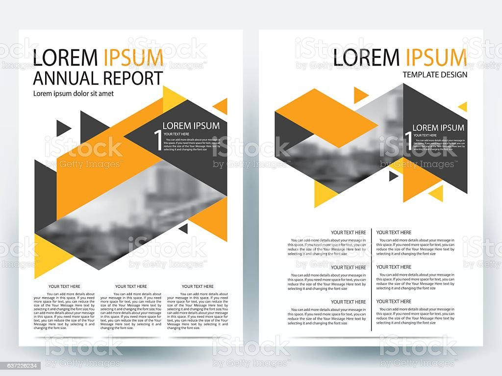 orange and black brochure design templates layout vector illustration royalty free orange and black