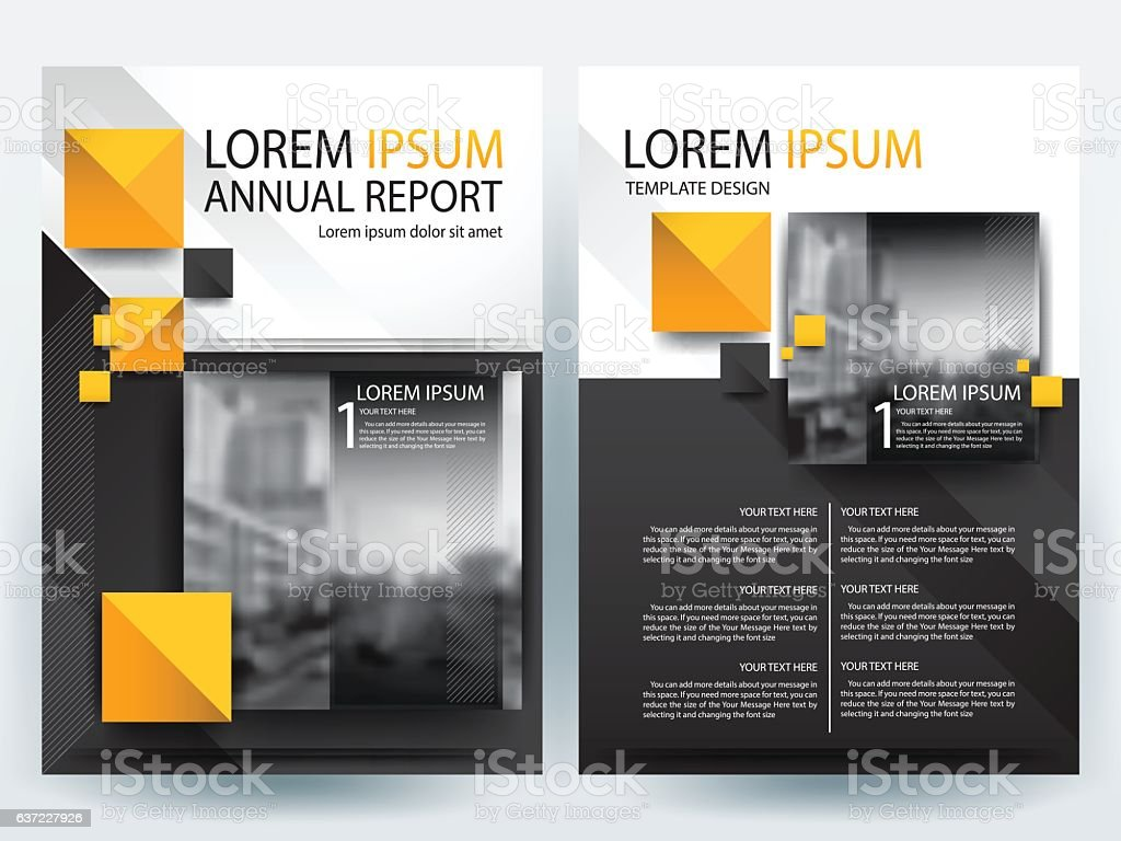 orange and black brochure design templates layout vector