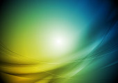 Orange and blue smooth blurred waves vector background