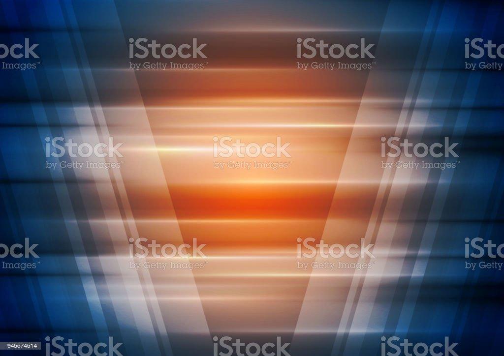 Orange and blue technology futuristic background vector art illustration