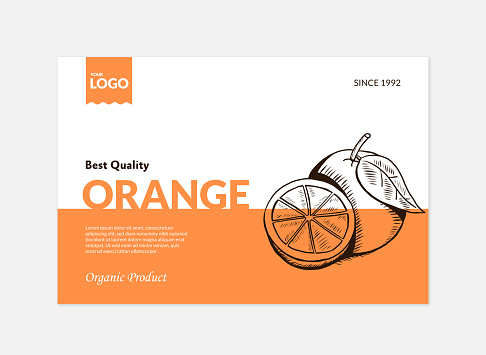 Orange And Juice Package Design Template