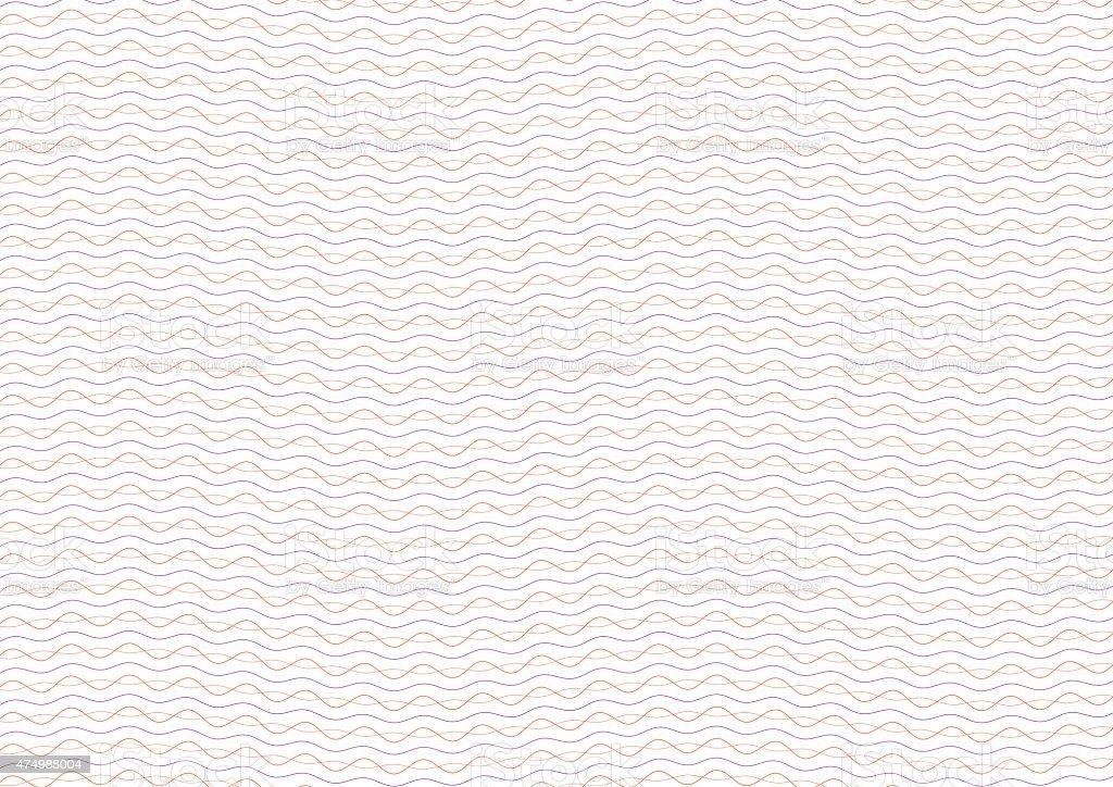 Orange and Purple Certificate Guilloche Background vector art illustration