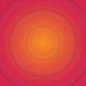 Orange and Red Sun Beam Circular Background.