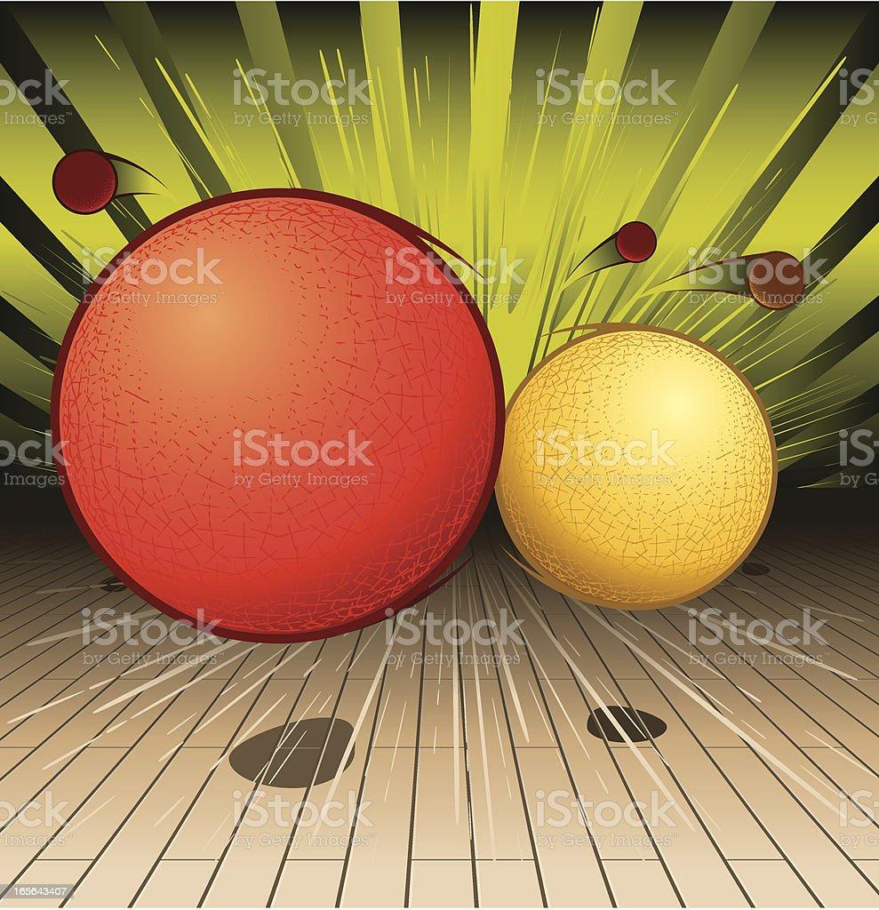 Orange and yellow animated balls royalty-free stock vector art