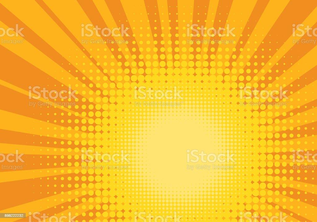 Orange et jaune Pop Art Background orange et jaune pop art background vecteurs libres de droits et plus d'images vectorielles de abstrait libre de droits