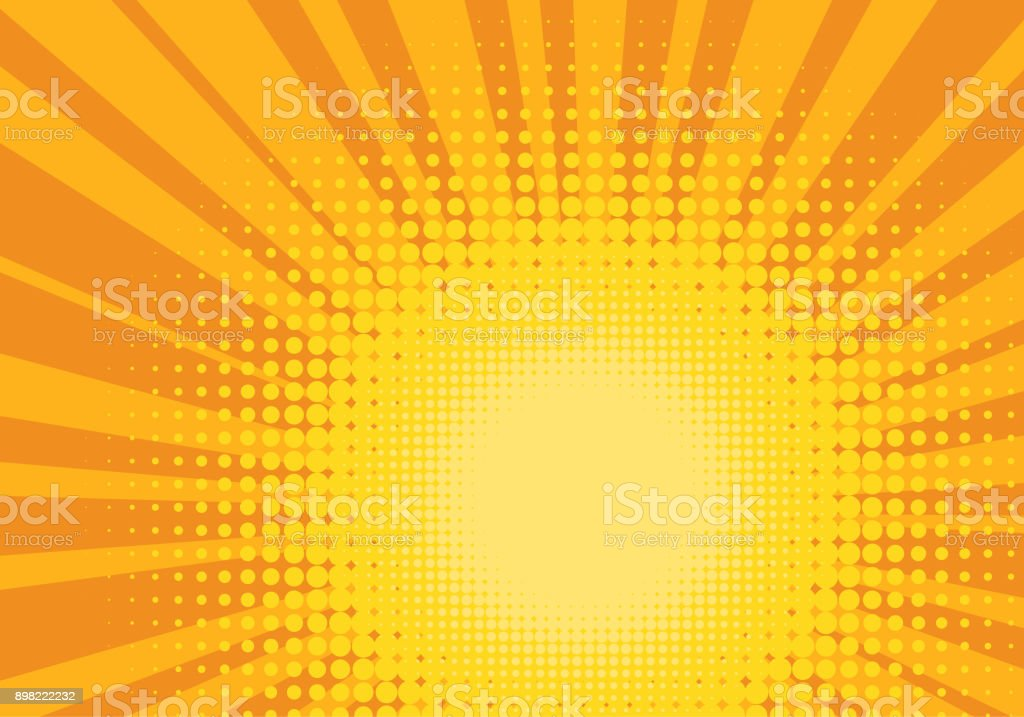 Orange and Yellow Pop Art Background