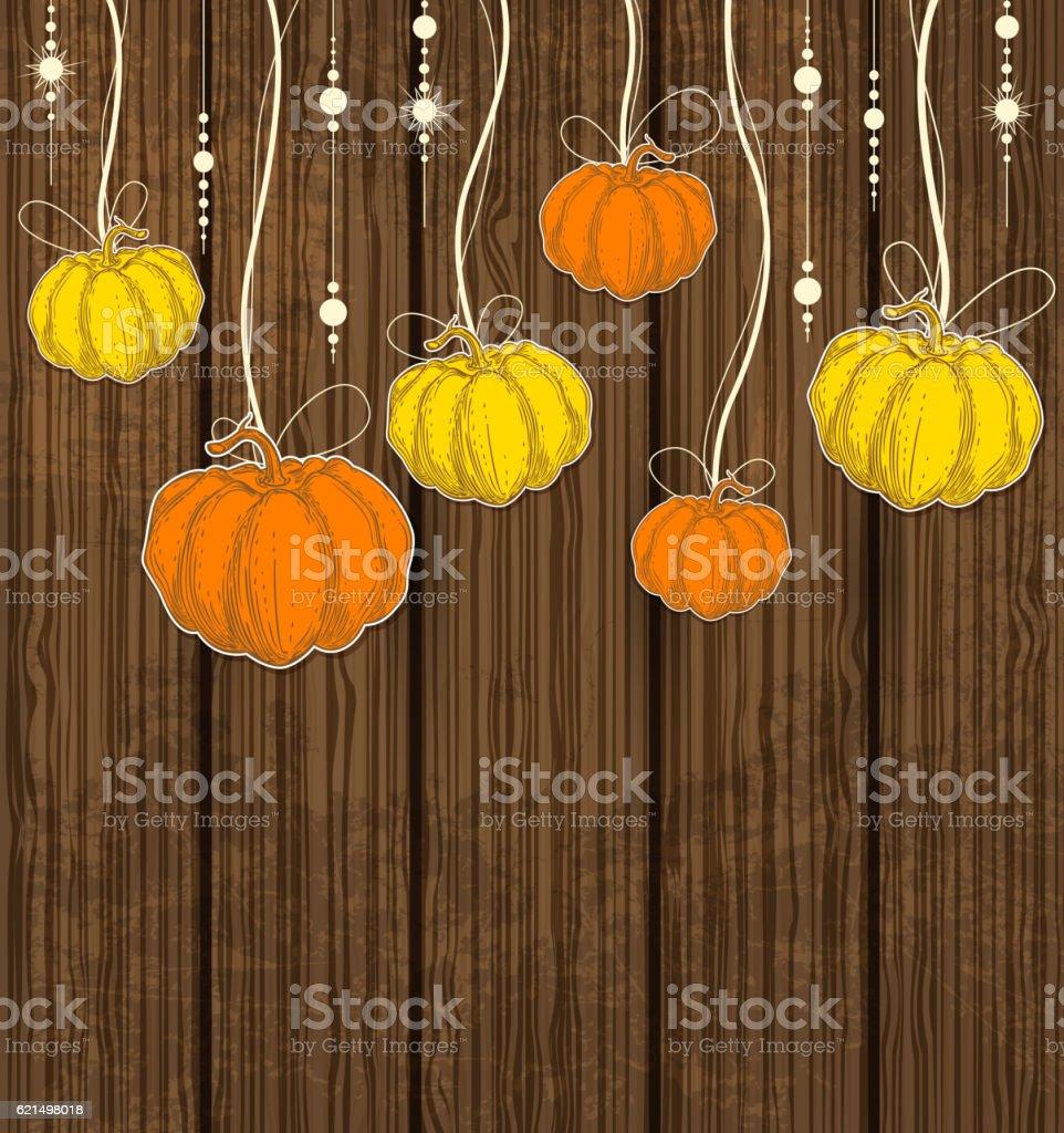 Orange Kürbisse und Gelb Lizenzfreies orange kürbisse und gelb stock vektor art und mehr bilder von begriffssymbol