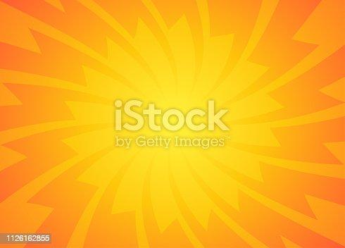 Orange and Yellow sun rays Background