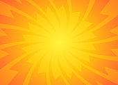 Orange and Yellow sun rays Background