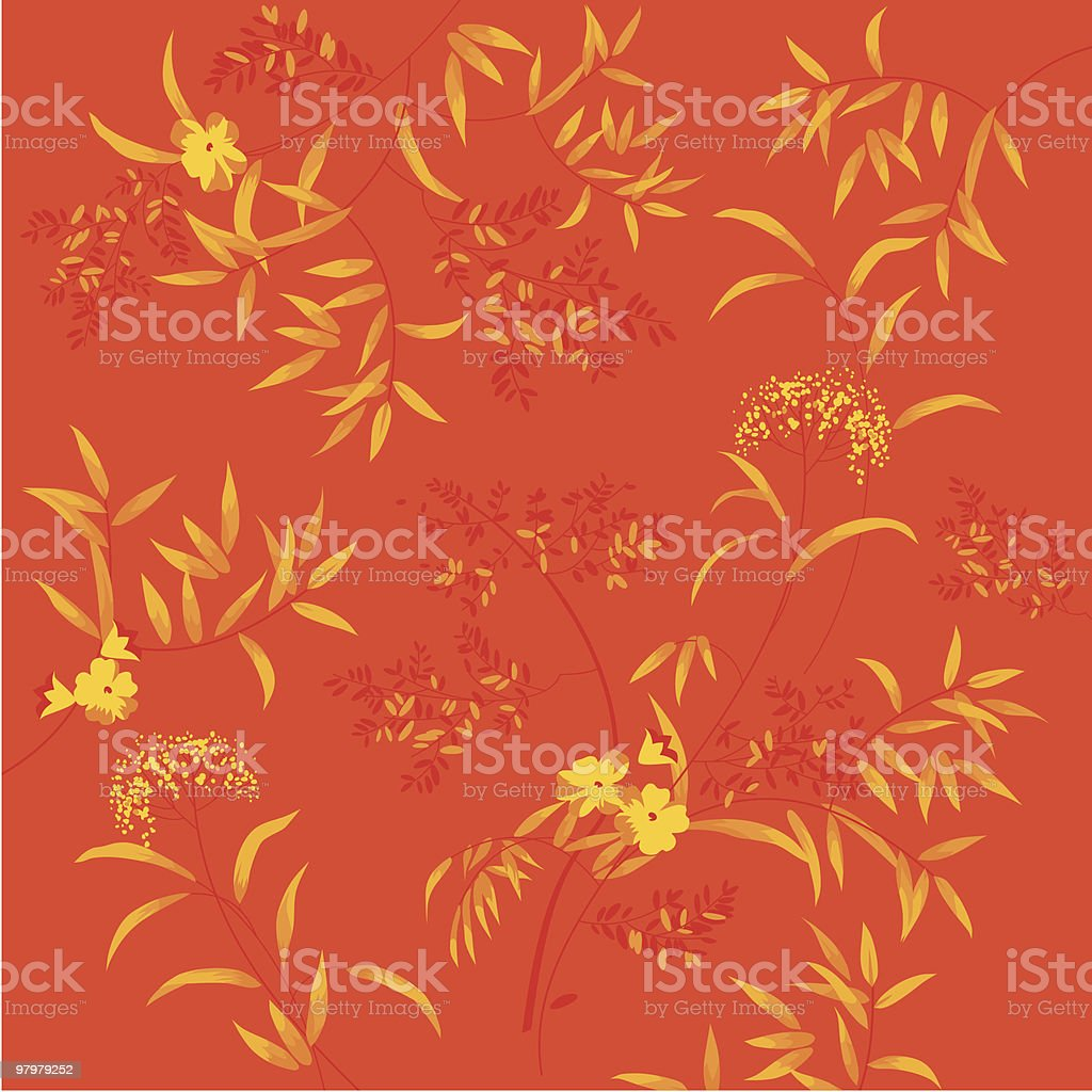 orange autumnal floral vector illustration royalty-free orange autumnal floral vector illustration stock vector art & more images of abstract