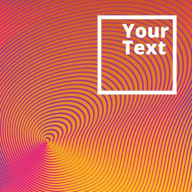 Orangem Hintergrund von Linien und Wellen – Vektorgrafik
