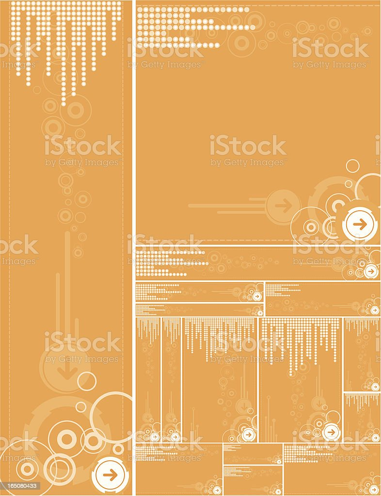 Orange background templates royalty-free stock vector art