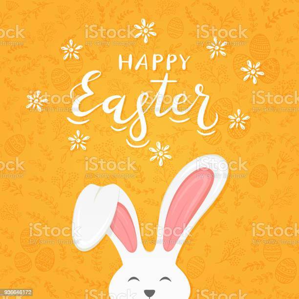 Orange background with pattern and text happy easter with rabbit ears vector id936646172?b=1&k=6&m=936646172&s=612x612&h=qkq8dycqqjeaw08orvz0szyqgx z7vrd3qpbexe0qwg=