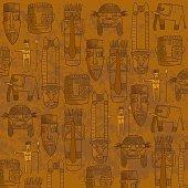 African mask wallpaper