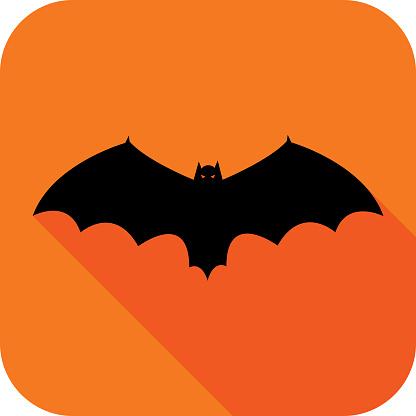 Orange Bat Icon