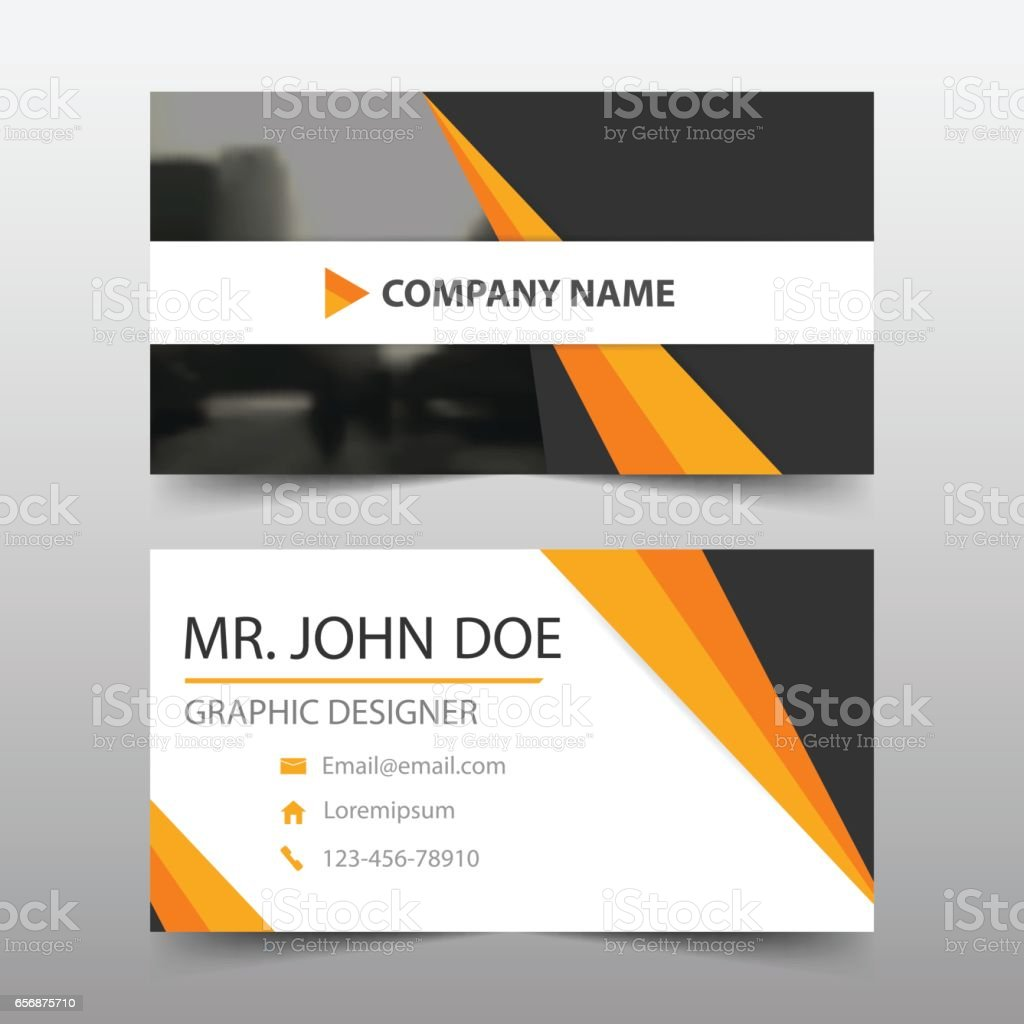 Orange black corporate business card name card template horizontal orange black corporate business card name card template horizontal simple royalty free orange reheart Choice Image