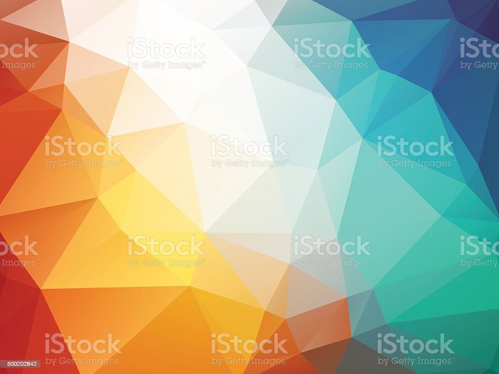 orange blue polygon background ice fire vector art illustration