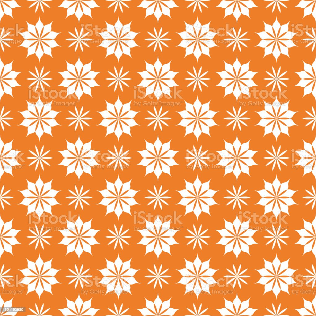 Orange bright floral seamless pattern royalty-free orange bright floral seamless pattern stock vector art & more images of abstract