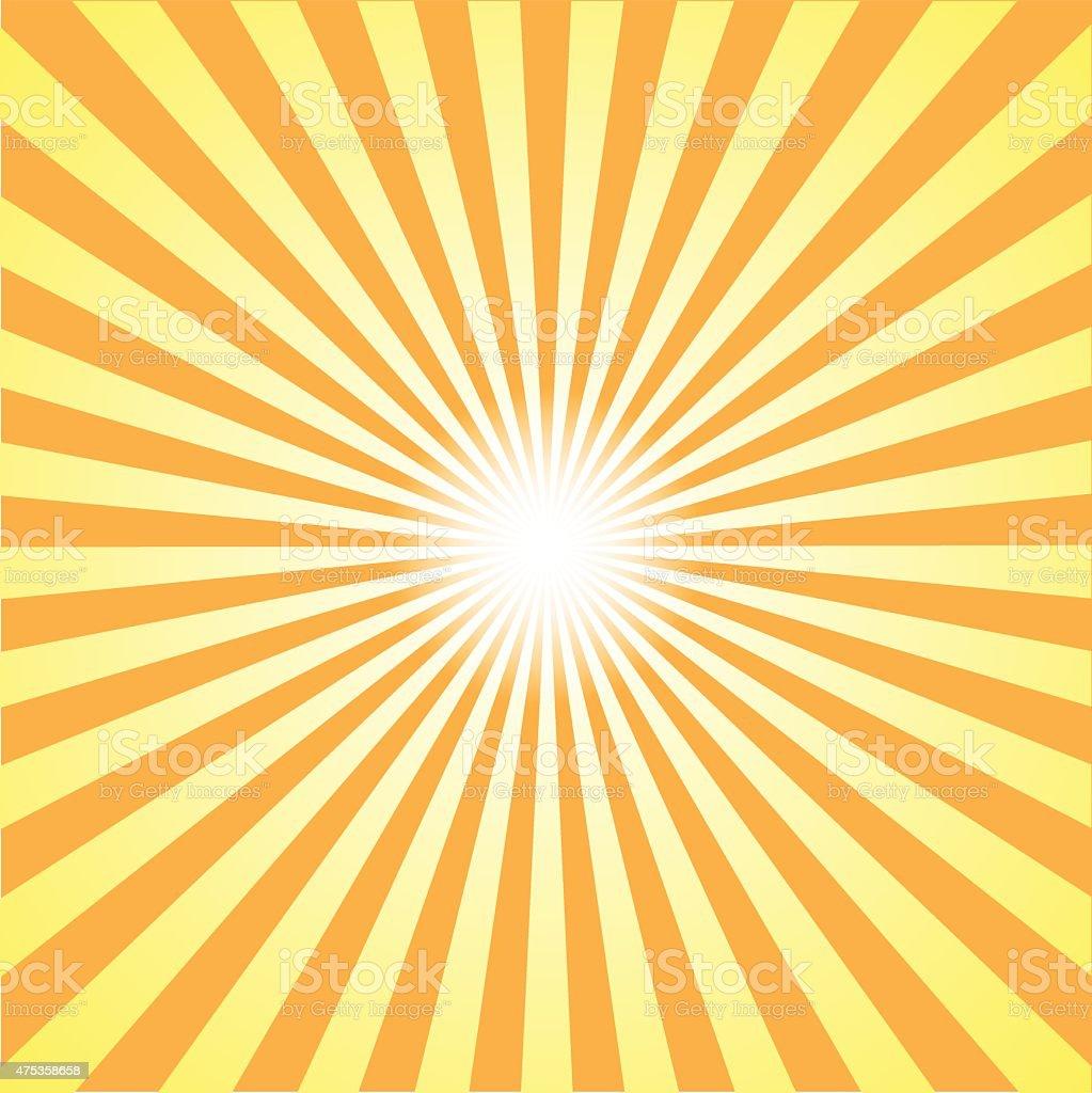 orange burst background. Vector illustration vector art illustration