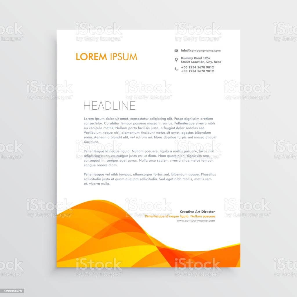 Orange business letterhead design template stock vector art more orange business letterhead design template royalty free orange business letterhead design template stock vector art accmission